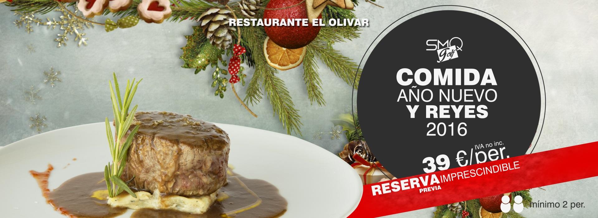 Banner Oferta Menu año nuevo y Reyes 2016 Sabores mas que Golf El Olivar