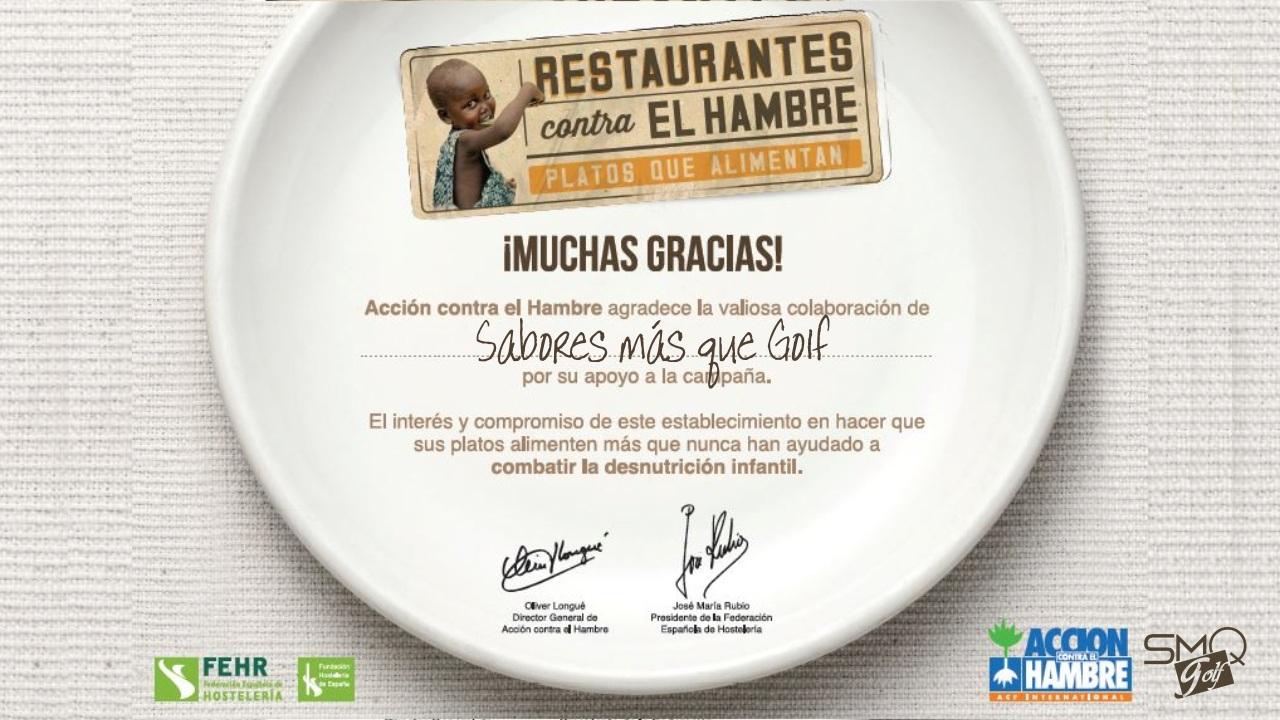 Restaurantes Contra el Hambre Accion Sabores Mas que Golf