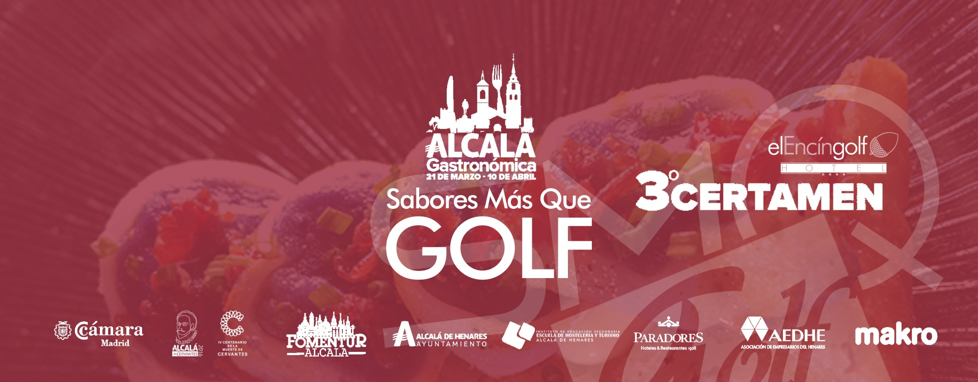 Tercer certamen Alcala Gastronomica Auntamiento camara de comercio Encin Golf Sabores Mas que Golf