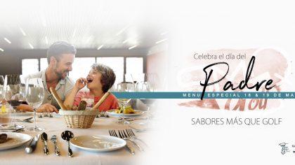 Dia del Padre Oferta Menu Sabores Mas que Golf PerfectPixel Publicidad Banner